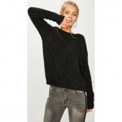 Answear - Sweter. Czarne swetry damskie ANSWEAR, z dzianiny, z okrągłym kołnierzem. Za 149.90 zł.