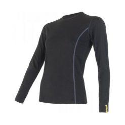 Sensor Koszulka Termoaktywna Z Długim Rękawem Merino Wool Active W Black S. Czarne koszulki sportowe damskie Sensor, z materiału, z długim rękawem. Za 215.00 zł.