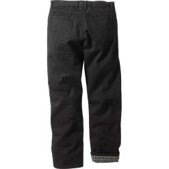 """Dżinsy ocieplane """"CLASSIC FIT"""" bonprix czarny. Czarne jeansy męskie bonprix. Za 124.99 zł."""