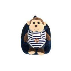 Plecak z odpinaną maskotką – małpka. Torby i plecaki dziecięce marki Tuloko. Za 53.00 zł.