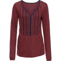 Tunika shirtowa z nadrukiem, długi rękaw bonprix czerwony kasztanowy. Czerwone tuniki damskie bonprix, z nadrukiem, z długim rękawem. Za 54.99 zł.