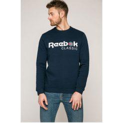 Reebok Classic - Bluza. Szare bluzy męskie Reebok Classic, z nadrukiem, z bawełny. W wyprzedaży za 169.90 zł.