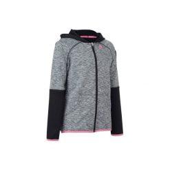 KURTKA DRY 500 JR CZAR.-RÓŻ. Czarne kurtki i płaszcze dla dziewczynek ARTENGO, na zimę. Za 59.99 zł.