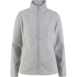 Bluza rozpinana z polaru z wpuszczanymi kieszeniami bonprix jasnoszary melanż. Szare bluzy sportowe damskie bonprix, melanż, z polaru. Za 54.99 zł.