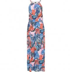 Sukienka letnia z dżerseju bonprix biel wełny z nadrukiem. Białe sukienki damskie bonprix, na lato, z nadrukiem, z dżerseju. Za 59.99 zł.