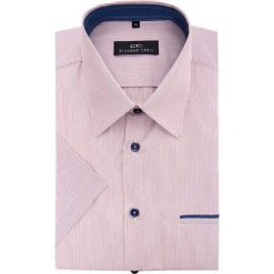 Koszula FABIO 15-03-07. Białe koszule męskie Giacomo Conti, na lato, w paski, z materiału, z klasycznym kołnierzykiem, z krótkim rękawem. Za 129.00 zł.