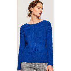 Sweter - Niebieski. Niebieskie swetry damskie Reserved. Za 99.99 zł.
