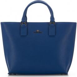 Torebka damska 36-4-073-N. Niebieskie torebki do ręki damskie Wittchen, w paski, z materiału. Za 399.00 zł.