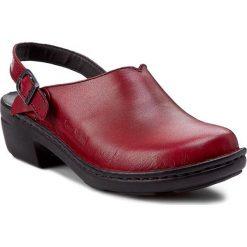 Klapki JOSEF SEIBEL - Betsy 95920 23 380 Hibiscus. Czerwone klapki damskie Josef Seibel, ze skóry. W wyprzedaży za 179.00 zł.