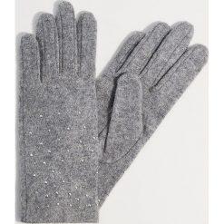 Wełniane rękawiczki z dżetami - Jasny szar. Szare rękawiczki damskie Mohito, z wełny. Za 49.99 zł.