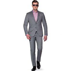 Garnitur Szary Malveno. Szare garnitury męskie LANCERTO, w kolorowe wzory, z bawełny. W wyprzedaży za 499.90 zł.