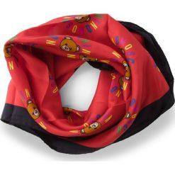 Chusta MOSCHINO - 03548  002. Czerwone szaliki i chusty damskie MOSCHINO, z jedwabiu. Za 369.00 zł.
