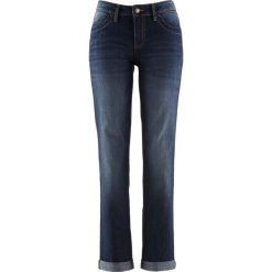 Dżinsy ze stretchem STRAIGHT bonprix ciemnoniebieski. Jeansy damskie marki bonprix. Za 74.99 zł.