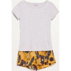 Piżama z szortami - Żółty. Piżamy damskie marki MAKE ME BIO. W wyprzedaży za 39.99 zł.