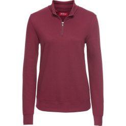 Bluza z zamkiem, długi rękaw bonprix purpurowy. Bluzy damskie marki KALENJI. Za 54.99 zł.