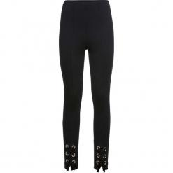 Spodnie ze sznurowaniem bonprix czarny. Czarne spodnie materiałowe damskie bonprix. Za 89.99 zł.