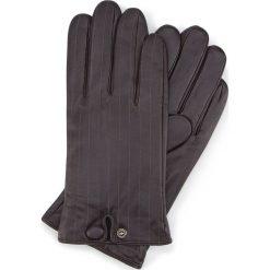 Rękawiczki męskie 39-6-715-BB. Brązowe rękawiczki męskie Wittchen, z polaru. Za 195.00 zł.