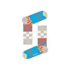 Skarpetki Happy Socks MIM01-1000. Brązowe skarpety męskie Happy Socks, z bawełny. Za 24.43 zł.