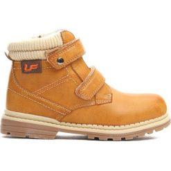 Camelowe Traperki Oppidan. Brązowe buty zimowe chłopięce Born2be, z materiału. Za 79.99 zł.