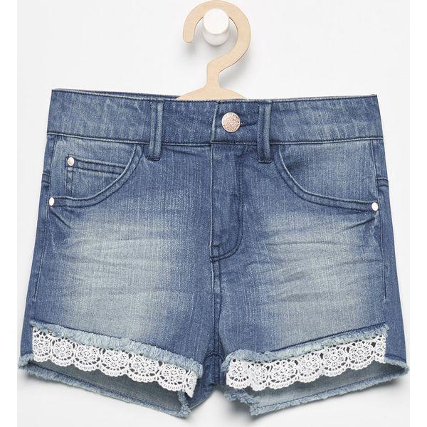 fa517586 Jeansowe szorty z koronką - Niebieski