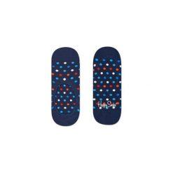 Skarpetki Happy Socks - Dot Liner (DOT06-6000). Niebieskie skarpety męskie Happy Socks, w kolorowe wzory, z bawełny. Za 27.90 zł.