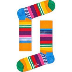 Happy Socks - Skarpety Multi Stripe. Pomarańczowe skarpety męskie Happy Socks. W wyprzedaży za 29.90 zł.