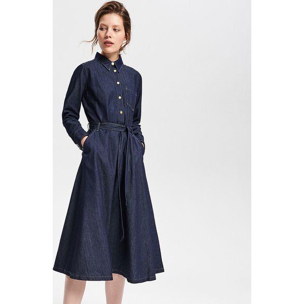 d34a02669f Jeansowa sukienka midi - Granatowy - Sukienki damskie marki Reserved ...