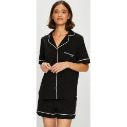 Dkny - Piżama. Czarne piżamy damskie DKNY, z dzianiny. W wyprzedaży za 299.90 zł.