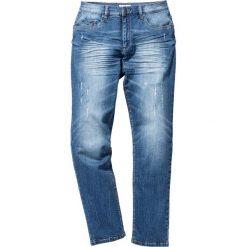 """Dżinsy ze stretchem Slim Fit Straight bonprix niebieski """"used"""". Jeansy męskie marki bonprix. Za 109.99 zł."""