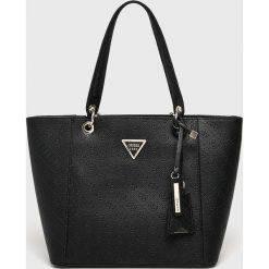 Guess Jeans - Torebka. Czarne torby na ramię damskie Guess Jeans. Za 629.90 zł.