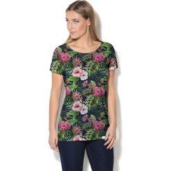 Colour Pleasure Koszulka CP-034 158 czarno-zielono-różowa r. XS/S. Bluzki damskie marki Colour Pleasure. Za 70.35 zł.