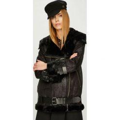Pepe Jeans - Kurtka Georgia. Czarne kurtki damskie Pepe Jeans, w paski, z bawełny. Za 959.90 zł.