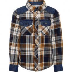 """Koszula """"Saturn"""" w kolorze jasnobrązowo-granatowym. Koszule dla chłopców marki bonprix. W wyprzedaży za 62.95 zł."""
