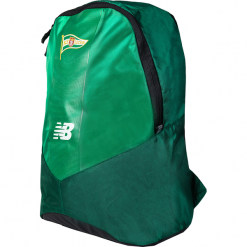 Plecak Lechia Gdańsk - GDBMBPK7JGN. Zielone torby i plecaki dziecięce New Balance, z materiału. W wyprzedaży za 118.99 zł.