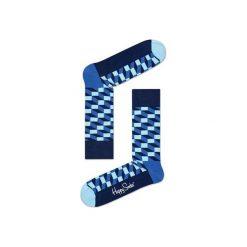 Skarpetki Happy Socks - Filled Optic (FIO01-6000). Szare skarpety męskie Happy Socks, w kolorowe wzory, z bawełny. Za 34.90 zł.