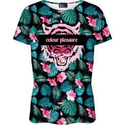 Colour Pleasure Koszulka damska CP-030 259 czarno-różowa r. XL/XXL. T-shirty damskie Colour Pleasure. Za 70.35 zł.