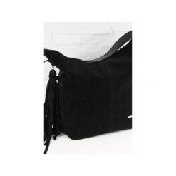 Zamsz-lico Shopper boho czarny. Czarne torebki shopper damskie Fabiola, z materiału. Za 281.00 zł.