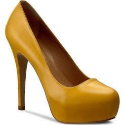 Szpilki KAZAR - Aida 19298-01-08 Żółty. Żółte szpilki damskie Kazar, ze skóry. W wyprzedaży za 339.00 zł.
