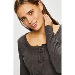 Sublevel - Bluzka. Brązowe bluzki damskie Sublevel, z bawełny, casualowe, z okrągłym kołnierzem. Za 69.90 zł.