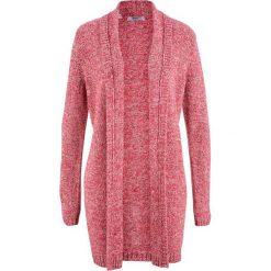 Długi sweter rozpinany, długi rękaw bonprix czerwony melanż. Czerwone kardigany damskie bonprix, melanż. Za 89.99 zł.