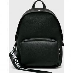 Calvin Klein Jeans - Plecak. Czarne plecaki damskie Calvin Klein Jeans, z jeansu. Za 649.90 zł.