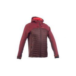 Kurtka Softshell trekkingowa TREK 900 hybrid męska. Czerwone kurtki męskie QUECHUA. Za 249.99 zł.