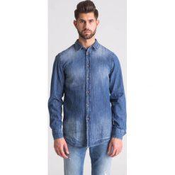 9cf16af636b981 Jeansowa koszula męska. Niebieskie koszule męskie TRUSSARDI JEANS, m, bez  wzorów, z