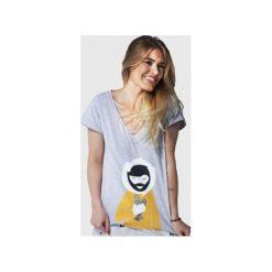 SAMBACA Eskimo - Tshirt. Szare t-shirty damskie Meet the llama, melanż, z bawełny. Za 89.00 zł.