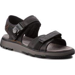 Sandały CLARKS - Un Trek Part 261326127  Black Leather. Czarne sandały męskie Clarks, z materiału. W wyprzedaży za 259.00 zł.