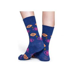 Skarpetki Happy Socks  CRY01-6001. Niebieskie skarpety męskie Happy Socks, z bawełny. Za 24.43 zł.