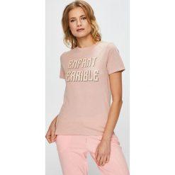 Undiz - Top piżamowy. Szare piżamy damskie Undiz, z nadrukiem, z bawełny. W wyprzedaży za 39.90 zł.