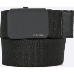 Calvin Klein Jeans - Pasek. Czarne paski damskie Calvin Klein Jeans, w paski, z bawełny. W wyprzedaży za 119.90 zł.