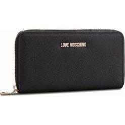 Duży Portfel Damski LOVE MOSCHINO - JC5552PP06LQ0000  Nero. Czarne portfele damskie Love Moschino, ze skóry ekologicznej. Za 369.00 zł.