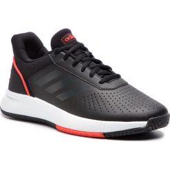 Buty adidas - Courtsmash F36716  Cblack/Gresix/Actred. Czarne buty sportowe męskie Adidas, ze skóry ekologicznej. Za 229.00 zł.